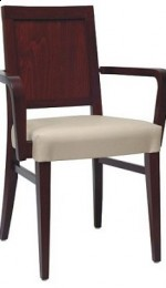 Tapicerowany fotel drewniany BS-0801