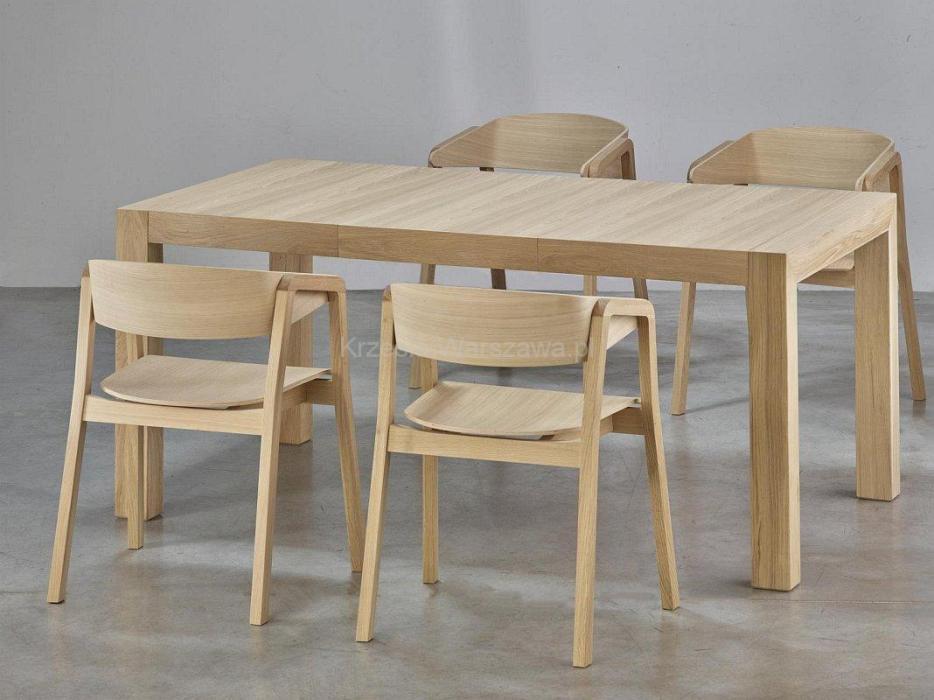 Fotele dębowe CAVA BS i stół SINPLE dąb