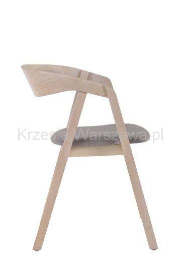 Nowoczesny designerski fotel LOX - dąb bielony bok