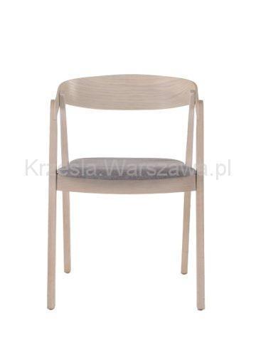 Nowoczesny designerski fotel LOX - dąb bielony